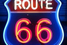 Route 66 / My plans for driving through the Classic Route 66! I'm buying the Classic Ford Mustang Convertible, taking friends along, and enjoying the country!   / by Danielle Robertson