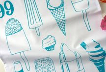 Illustrated Tea Towels and Totes. / by Ella Osborne