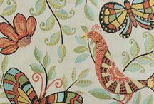 Bird / insect fabrics / by Warehouse Fabrics Inc.