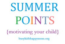 Summer Points / Ideas for keeping your kids busy and motivated throughout the summer....so they're ready for school in the fall! / by Kristen Mason