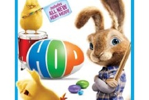 Hop / Hop is a comedy about E.B. (voiced by Russell Brand), the teenage son of the Easter Bunny. On the eve of taking over the family business, E.B. leaves for Hollywood in pursuit of his dream of becoming a drummer. He encounters Fred (James Marsden), an out-of-work slacker with his own lofty goals, who accidentally hits E.B. with his car. Feigning injury, E.B. manipulates Fred into providing him shelter, and Fred finds himself with the world's worst houseguest.