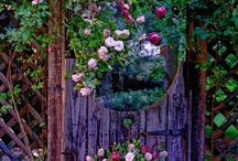 "Garden Gates / A place to collect ideas for creating that ""secret garden"" sense for those who come to my bungalow. That magic that calls the visitor to enter in / by Kristin Freeman"