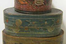 folk art furniture - boxes, shelves.... / by Donna Code