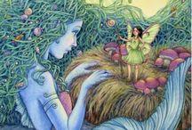 Mermaids, elves, gnomes, fairies / by Santa James Andrews