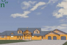 Ranch Log Cabin Homes / by Jackie Leavitt Graña