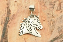 Horses Jewelry / Native American Horse Design Jewelry / by Treasures of the Southwest.com