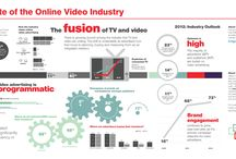 Video Infographic Mood Board  / These are all infographics that have video as main theme. / by Nicole Sorochan