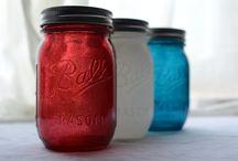 Mason Jars ~ Holidays ~ Patriotic & Picnics / by Linda S