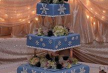 Snowflake Wedding Cakes / by Diane Castro