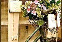 ***Flower basket bicycle *** / by Satoko Katsuyama