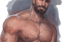 Male drawings - Community Board / You can add Drawing / Painting / Digital Art (NO PICS). PLEASE TRY TO MENTION THE ARTIST NAME. Thank you and welcome! / by Ualah