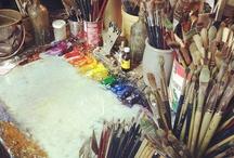 "Studio space / by Jenica ""Hen"" Frederickson"