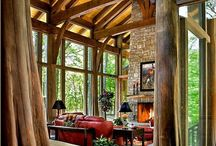 Mountain/Lake house / Rock, wood, stone, craftsman style homes with lake and/or mountain views / by Suzanne Gordon