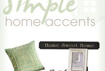 Simple Home Accents / Home decor: Accents for every room in your home. / by Anna's Linens