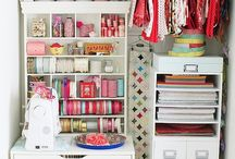 craft storage ideas / by Amy {fun-baby-shower-ideas.com}