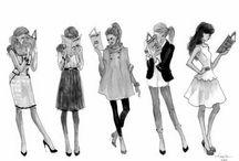 fashion illustrations / by Fab Gab Blog .com