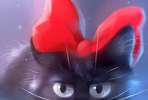 artな猫ちゃん達 / 写真かなと思える多々色々な猫ちゃん / by sayo
