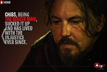 CHIBS / BOARD FOR THE AWESOME ACTOR TOMMY FLANAGAN WHO PAYS CHIBS ON SONS / by Rhonda Simpson