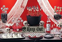 Scary Sweets & Treats Ideas for Halloween / Guarantee a gory good time with sinfully good sweets! Witch finger pretzels, eyeball doughnut pops, candy-covered strawberry ghosts--tons of marvelously macabre treats to satisfy your guests! Check out these ideas, plus all the gruesome details from the experts at Wilton® to make them all! / by Party City