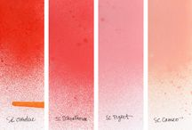 Scrappy products - ink and mist color comparison ref / by Lane Ross
