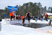 Original Northwoods Polar Bear Plunge / Special thanks and congratulations go out to the 89 brave plungers who took part in the 14th Annual Original Northwoods Polar Bear Plunge on Saturday, January 4, 2014. These hardy souls (50 of them plunged for the 1st time) raised an impressive $28,827 for Angel On My Shoulder, a non-profit cancer support foundation! / by St. Germain Area Chamber of Commerce, Inc.