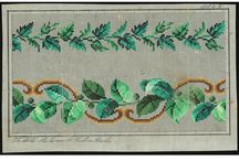 Berlin Woolwork - Foliage / Oaks, maples, and ivies were popular subjects for presents for men and boys. / by Laura Jones