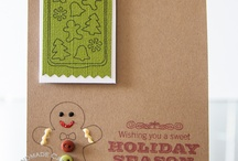 GRS Holiday / Christmas Cards / Holiday and Christmas cards featuring images from Gourmet Rubber Stamps / by Gourmet Rubber Stamps