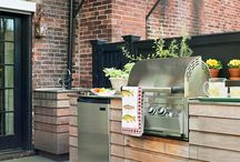 outdoor kitchen / by Kim Robertson