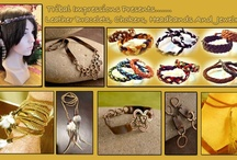 Handcrafted Leather Jewelry / Handcrafted leather bracelets and jewelry from Tribal Impressions- Review the collection off of: http://www.indianvillagemall.com/jewelry/leatherbraclets.html / by Tribal Impressions