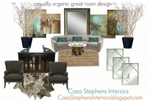Inspirational Mood Boards / the basic design ideas before they are implemented with the client.  http://CasaStephensInteriors.blogspot.com / by Casa Stephens Interiors.com