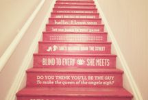 Customized Walls - Stair Stickers / by Laurie - CEO Customized Walls Founder Interior Design Community