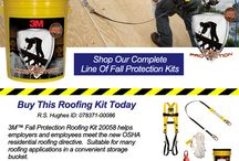 3M Fall Protection / Buy Now and Be Safe.  R.S. Hughes carries over 100 3M Fall Protection Kits for safety in various conditions and environments.  Fall Protection is one of the quickest and easiest ways to keep yourself safe in dangerous situations.  And,  purchasing a kit gives you the comfort of knowing you're getting all the needed components in a single purchase.  Come see our complete line of fall protection kits at http://www.rshughes.com/c/Fall-Protection-Kits/8046/index.html?fn.1=Brand&fv.1=3M  / by R.S. Hughes