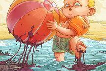 Ilustracion - Arte / la linea es muy delgada / by Fausto Acosta