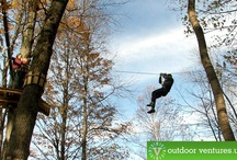 Aerial Ropes Course and Low Ropes Course / High and low ropes course spell the thrill of adventure in any obstacle course! Whichever works best for you, make sure you have fun! Here are a collection of tips, tricks or answers to some questions you may have for an adventure park builder / by Outdoor Ventures