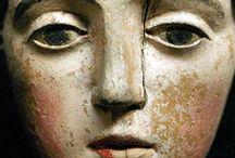 clásicos-escultura / escultura y tallas en madera medieval y renacimiento / by Jesusa Quiros
