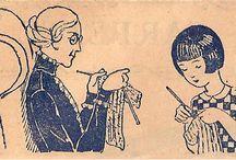 Tricot historique / Vintage knitting / Les images et photos de mes article Back Loop. / by Odile Berget