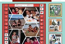 Zig Zag Stencil / This Board shows different Photo Collage layouts all using the Zig Zag Stencil as the design template. / by Lea France Scrapbooking (Photo Collage)