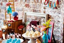 Boho Chic Party Ideas / Eclectic mix of colours & textures. Blues, greens and pops of red. / by Rachel - Haute Chocolate