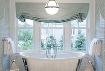 Bathroom Beauties / bathroom designs, tile, sinks, faucets, shower design, tubs, lighting / by Emily Ruddo