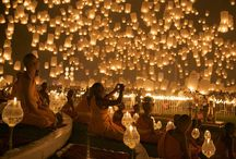 Loi Kratong Festival - Thailand / The annual festival called Loi Kratong. Tickets for tours and activities available at Island Info, inside Ark Bar Beach Resort https://www.facebook.com/IslandInfoThailand / by Island Info Samui