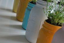 DIY/DECOR: mason jars and old bottles / by Kristina Johnson