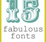 Crafting - Fonts/Graphics / by Kemberli Paes