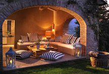 OUTDOOR LIVING - Porches Patios and Fire Pits / by Ruzz Zuzu