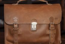 Vintage Leather Briefcase Attache Bags / by Buffalo Jackson Trading Co