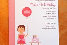 Kids Birthday Invitations / by Isabel Pereira