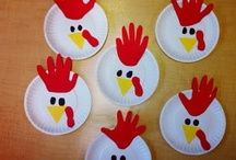 hand and foot print crafts / by Amy Ullmark