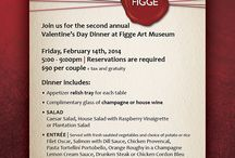 Valentine's Day at the Figge / This Valentine's Day, we are hosting the second annual Valentine's Day Dinner. Make your reservations today! / by Figge Art Museum
