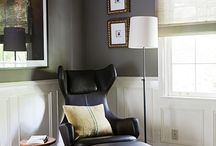 Interiors: Black, White & maybe Blush and Tan / by Kristine Wasner Hershberger