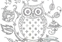 Coloring pages / by Kay Cox