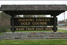 Mark Twain State Park and Soaring Eagles Golf Course / PARKS IN THE FINGER LAKES REGION OF NEW YORK--Named for the great 19th-century author who spent summers in the area, Mark Twain State Park is the home of Soaring Eagles, one of the most scenic and challenging 18-hole golf courses in the region. This is the home course of professional golfer Joey Sindelar, who has a private practice hole on the course. For more information about this park and golf course, see http://www.ilovethefingerlakes.com/recreation/stateparks-marktwain.htm / by ILovetheFingerLakes